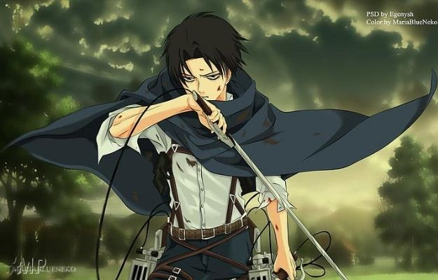 Badass looking Levi holding a sword | Guess the Age of These Anime Characters