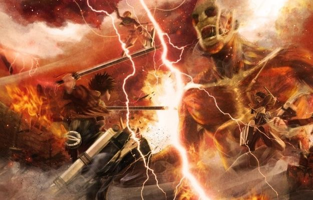 "Attack on Titan anime with the main character in battle against the titan with lightning and thunder around | What is ""Anime Season?"" 