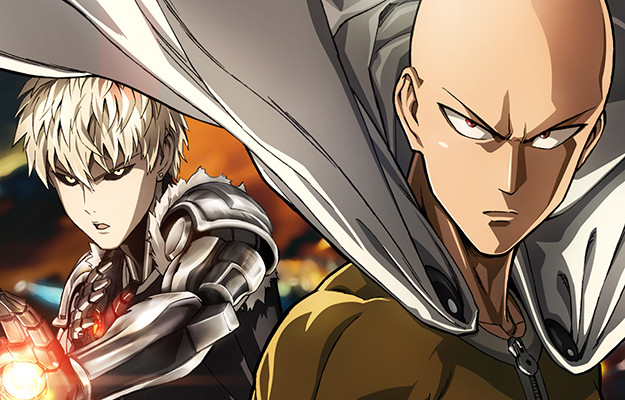 One Punch Man wearing cape and bad guy with metal arm | How Do Anime Seasons Work? | Seasons and Cours - Do You Really Know When Your Anime Came Out?