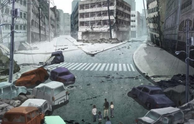 a ruined view of city after disaster   Is The Series Child-Friendly   Is Japan Sink 2020 on Netflix Worth the Hype