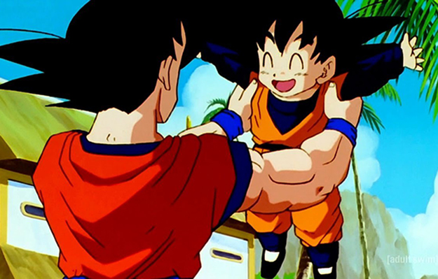 Goku lifting up his son | Treat Everyone With Respect | 6 Life Lessons Goku Taught Us