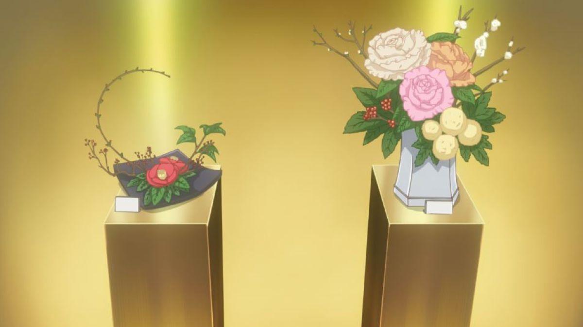 Displayed flower arrangements | Studying tea | The Japanese Tea Ceremony