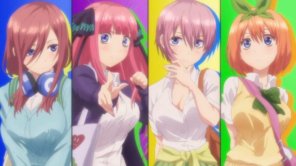 Four of the quins with their different hair colors | Hair Colors | A Guide to Anime Hair