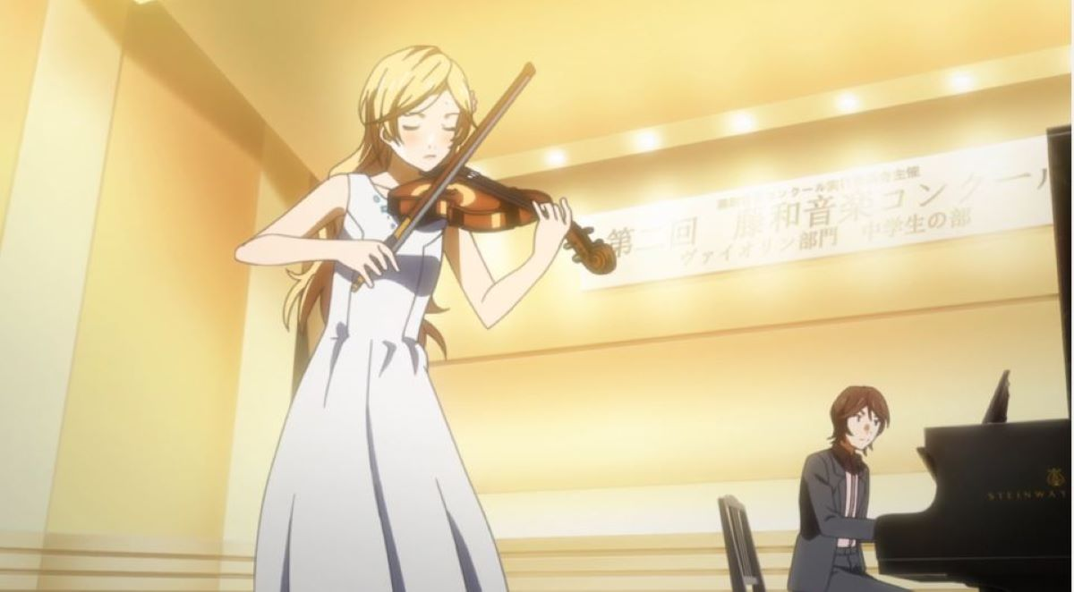 Kaori Miyazono performing with her violin | Classical | Delve into Music Anime!