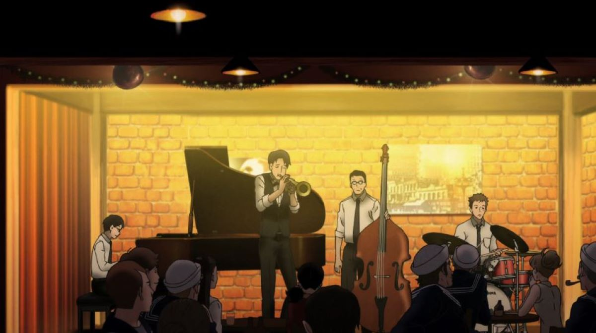 The quartet playing at the jazz club | Special Mentions | Delve into Music Anime!