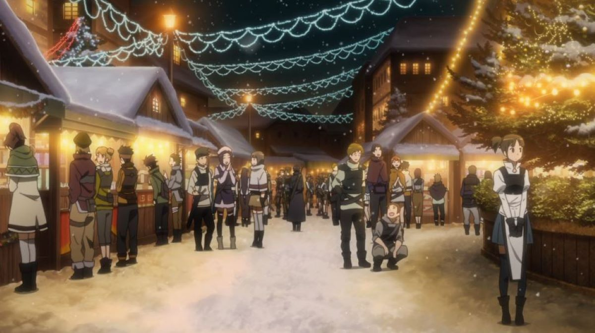Christmas market in the game   Sword Art Online - Episode 3   Christmas Episode Recommendations