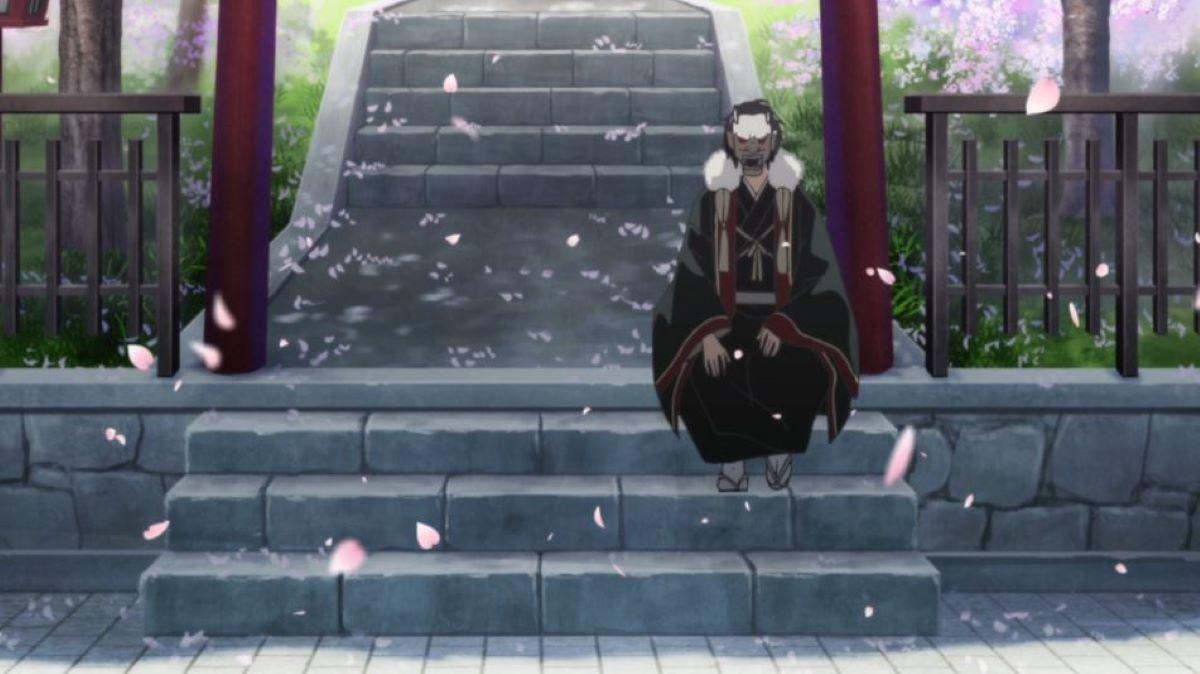 An oni on the steps of a shrine | Shrines | Setsubun