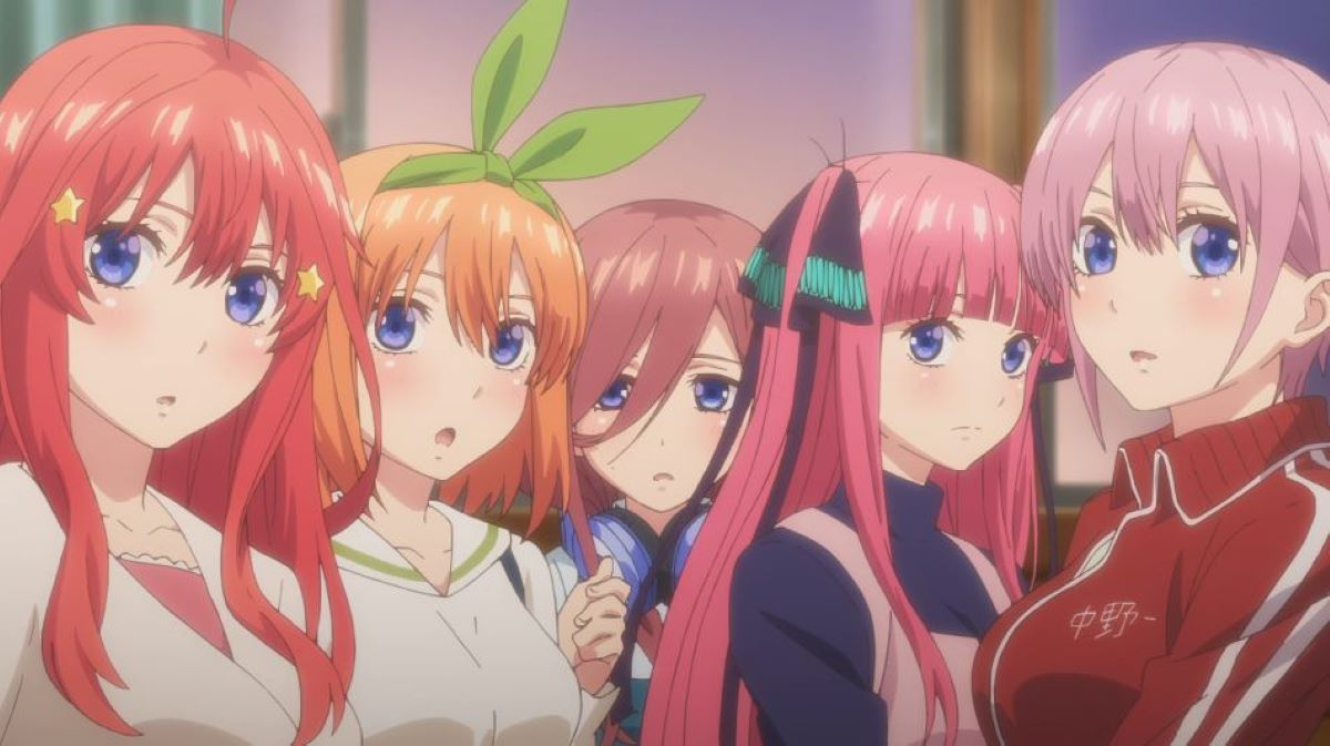 All five girls together | The Girls Have All Grown into Their Own Looks and Interests | Five Reasons Why The Quintessential Quintuplets is Just so Great
