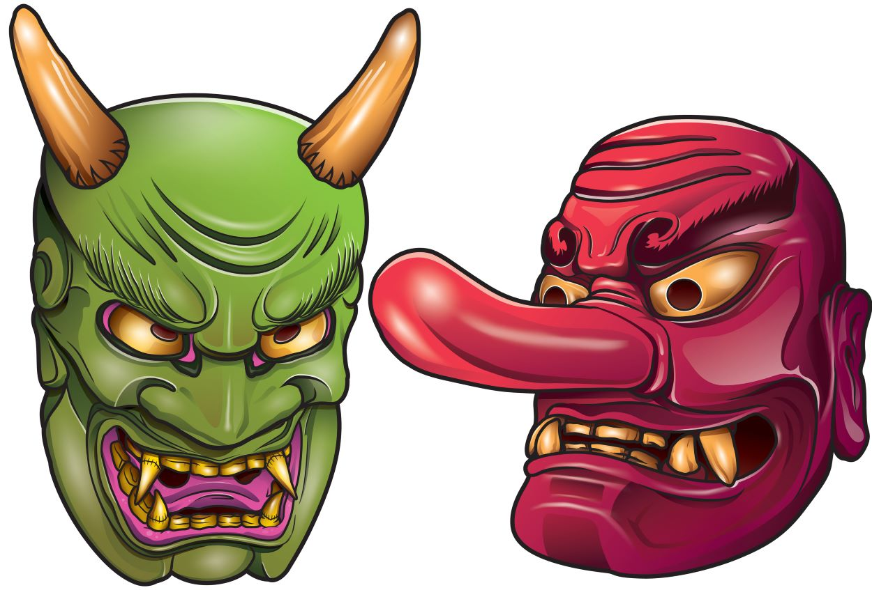 Oni masks | Traditional Tales | Oni: Ogre From Japanese Folklore
