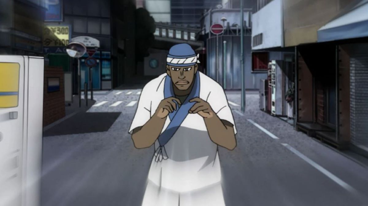 Simon fists up ready for Shizuo   Semyon Brezhnev - Durarara   Foreign Characters in Anime