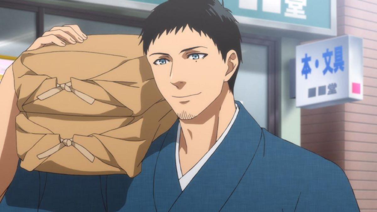 Gure carrying rice   Gure Valentino - Yotsuiro Biyori   Foreign Characters in Anime