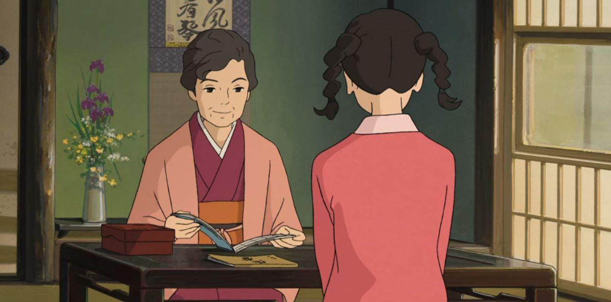 Umi sitting with her grandmother, who is wearing a kimono | Types of Kimono | Kimono, Yukata and Hakama