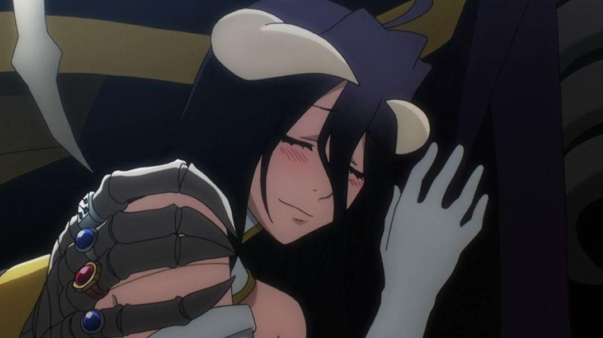 Albedo enjoying Momonga's arm around her while they teleport | Loyalty and Lust | The Contrasts in Albedo from Overlord