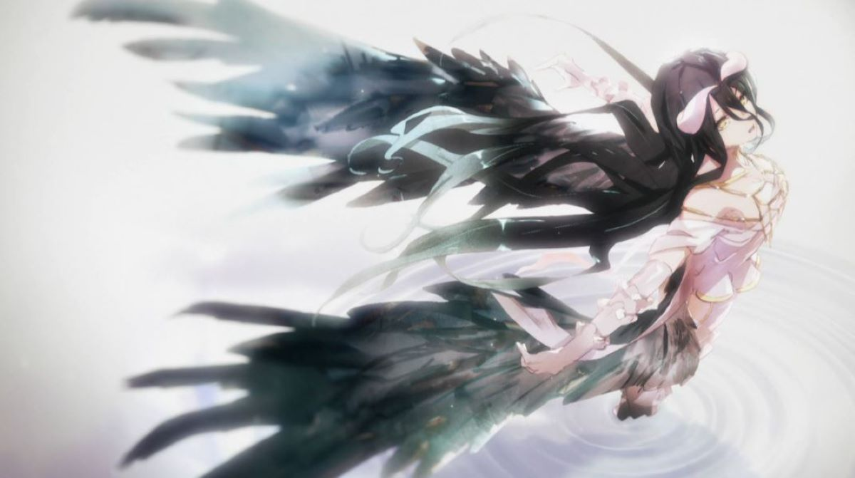 Art from the end credits, displaying Albedo's black wings | Beloved by Fans | The Contrasts in Albedo from Overlord