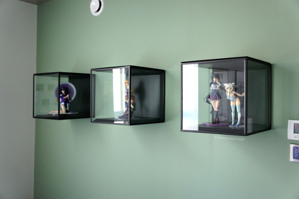 Wall-mounted display cases with anime figures | Wall-Mounted Display | Fun Ways to Display Your Figure Collection