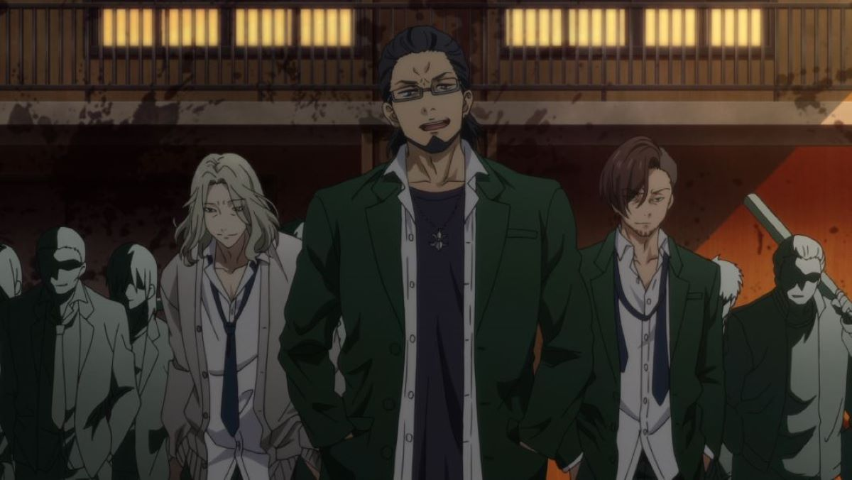 Bullies from a rival school arrive   Bullies   Japanese Delinquents