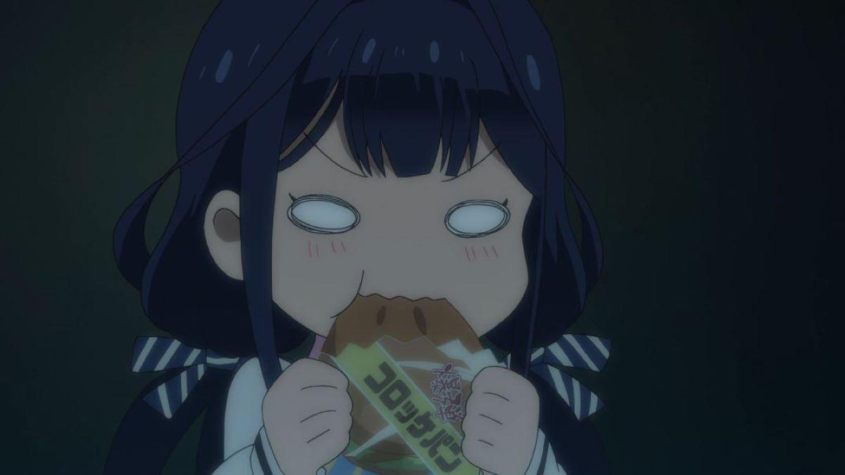 Aki eating excitedly | Masamune-kun's Revenge - Aki Adagaki | Glutton Characters