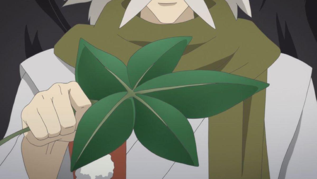 The elder tengu Matsuba giving the fan to Aoi | Powerful Fan | Tengu: A Creature from Japanese Folklore