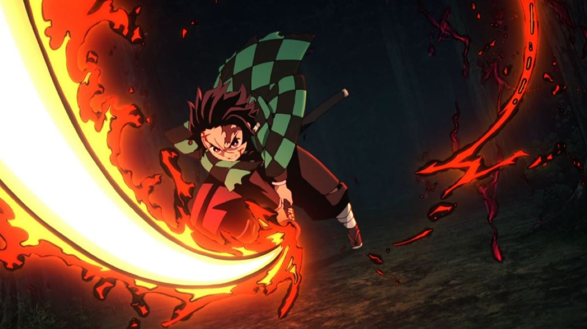 Tanjiro with his sword set on fire | Fire Plays an Important Part | Fun Facts About Demon Slayer: Kimetsu no Yaiba