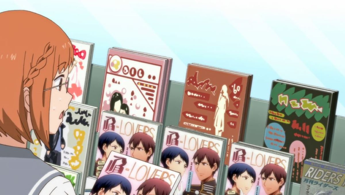 Chio inspecting the BL magazines | Yaoi | Definitions - Genres and Demographics