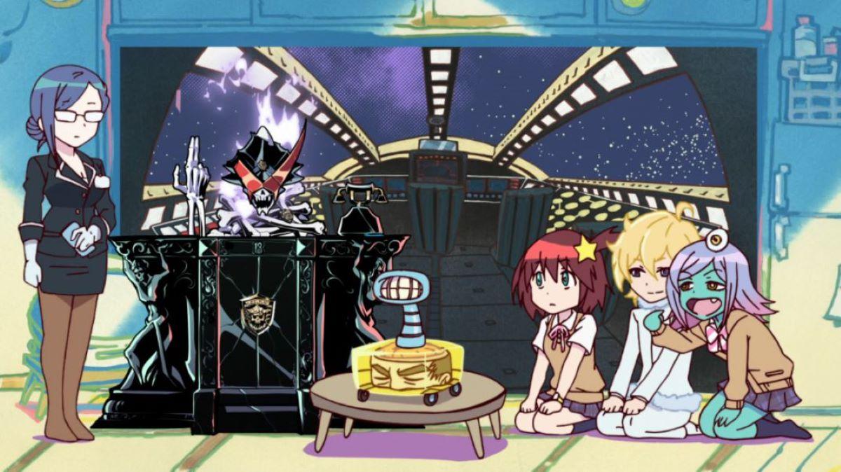Luluco, Midori and ΑΩ Nova listening to Secretary | Space Patrol Luluco | Anime Shorts to Make You Smile