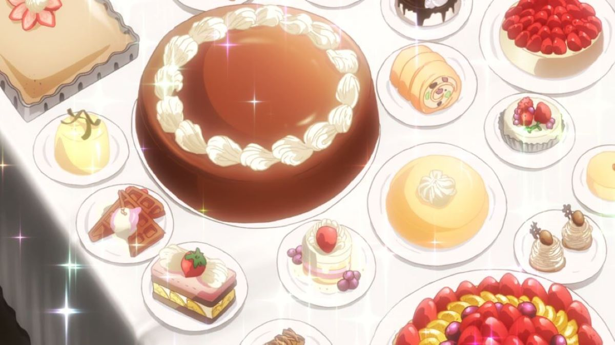 A beautiful spread of cakes and pastries | BONJOUR Sweet Love Patisserie | Anime Shorts to Make You Smile