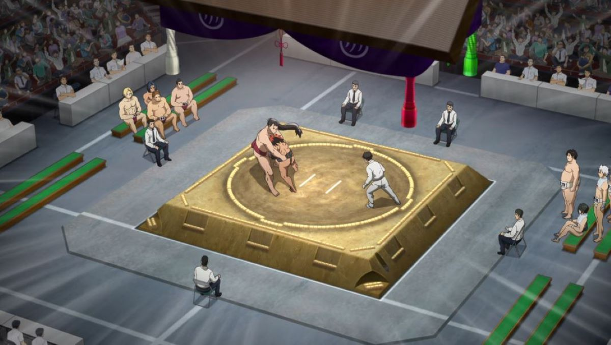 Sumo wrestling ring as seen from above | Sumo | Traditional Japanese Sports and Games in Anime