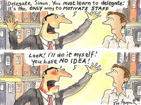 Management concept: delegation fails without the right plan