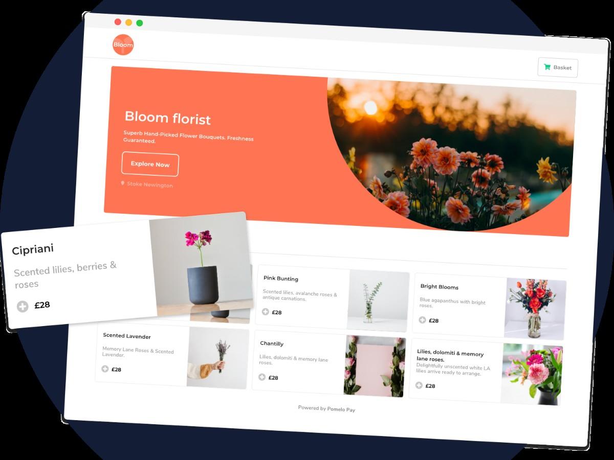 florist ecommerce shop set-up