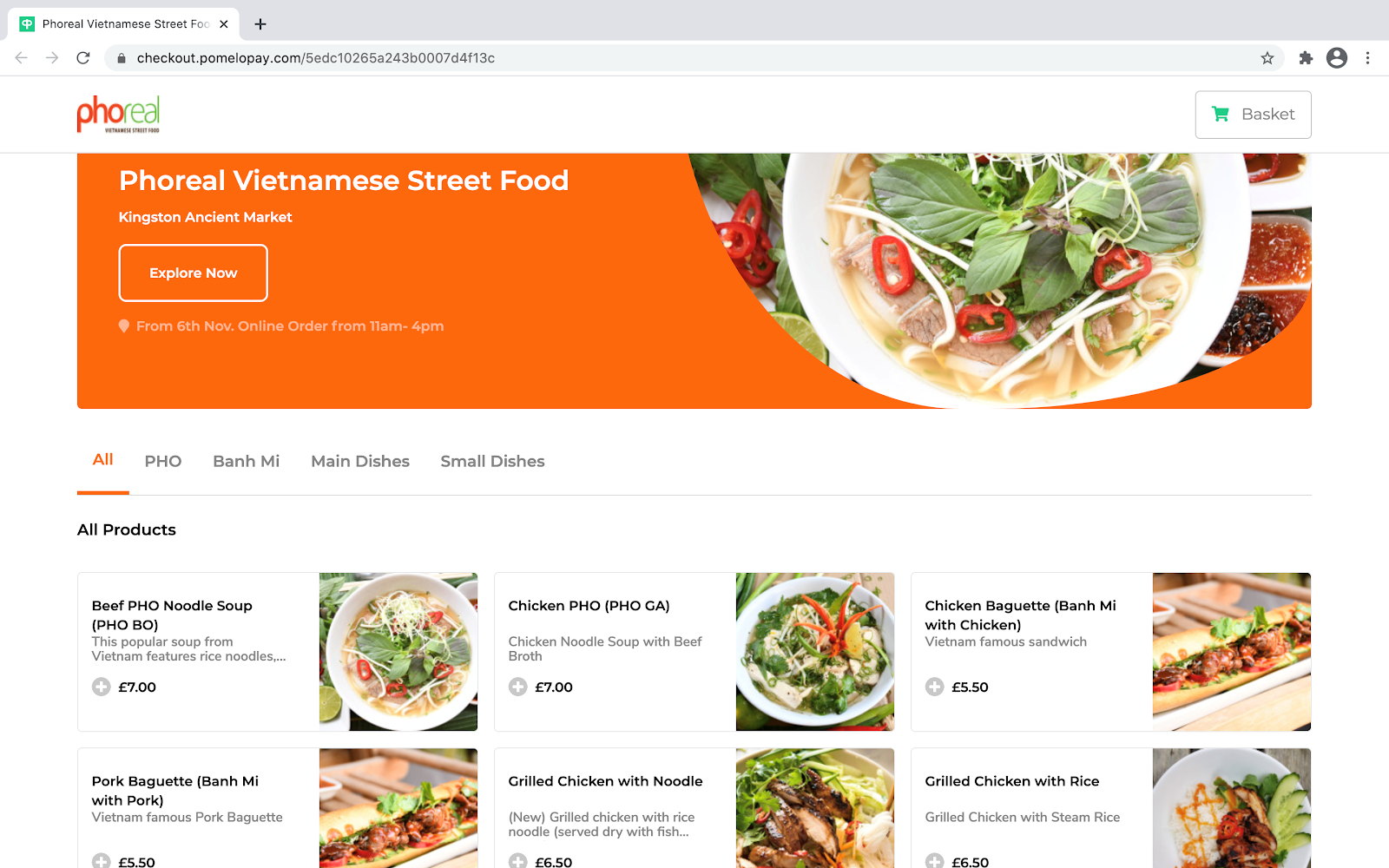 pho real online ordering system
