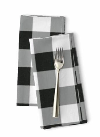 Gingham Buffalo Check Cloth Dinner Napkins