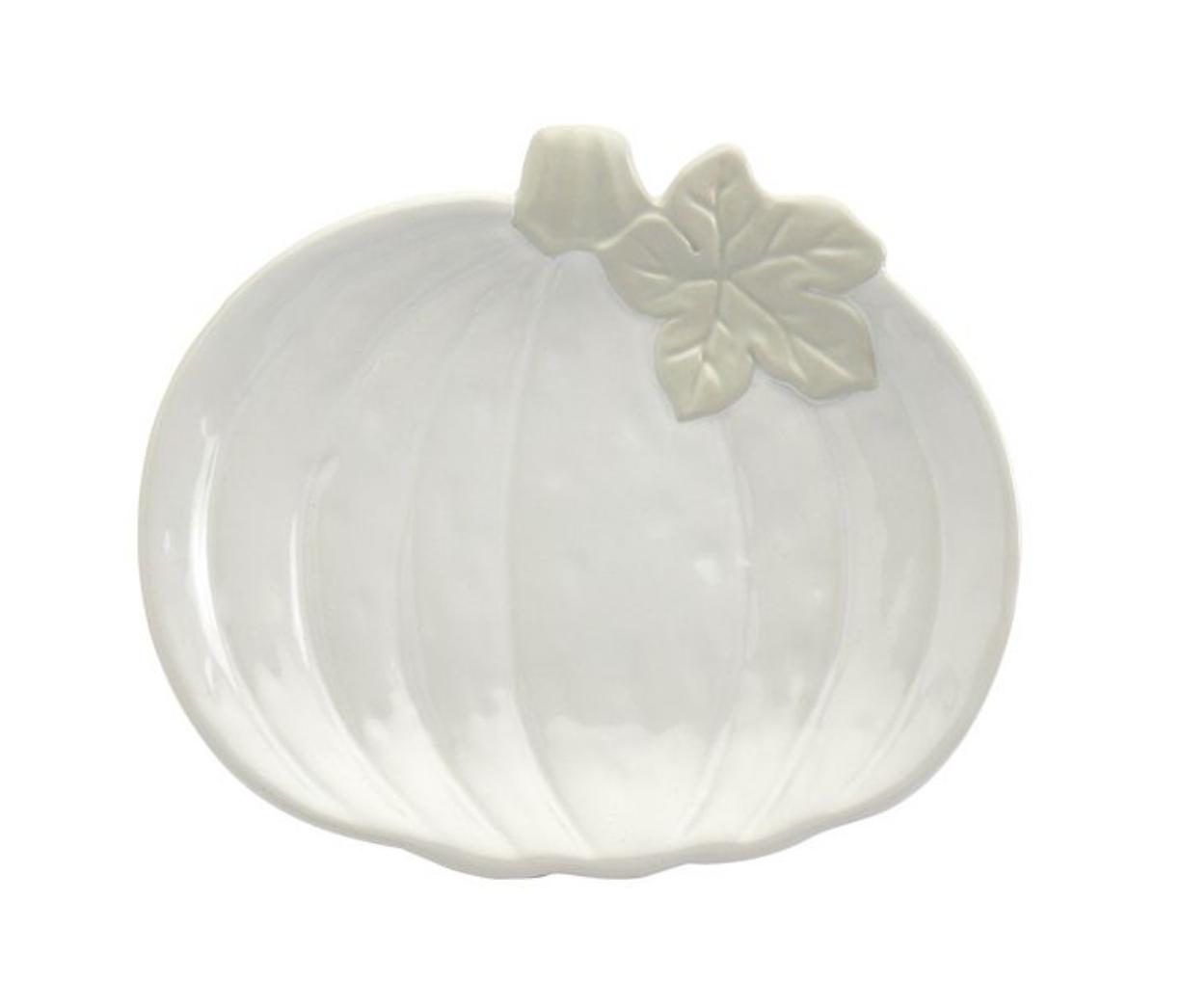 Celebrate Fall Together White Pumpkin Salad Plate
