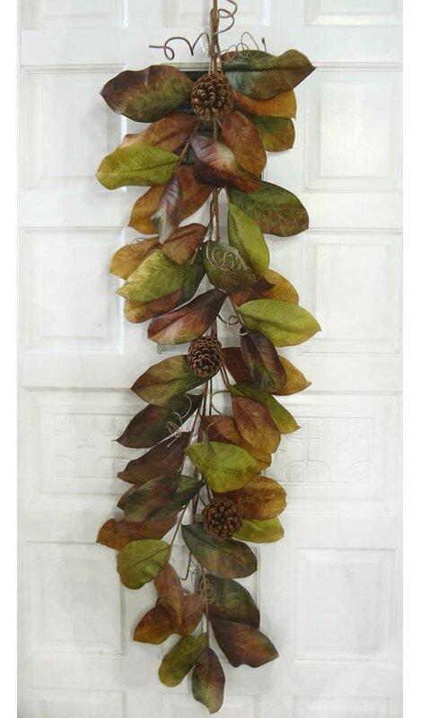 Magnolia Leaf Garland - Silk