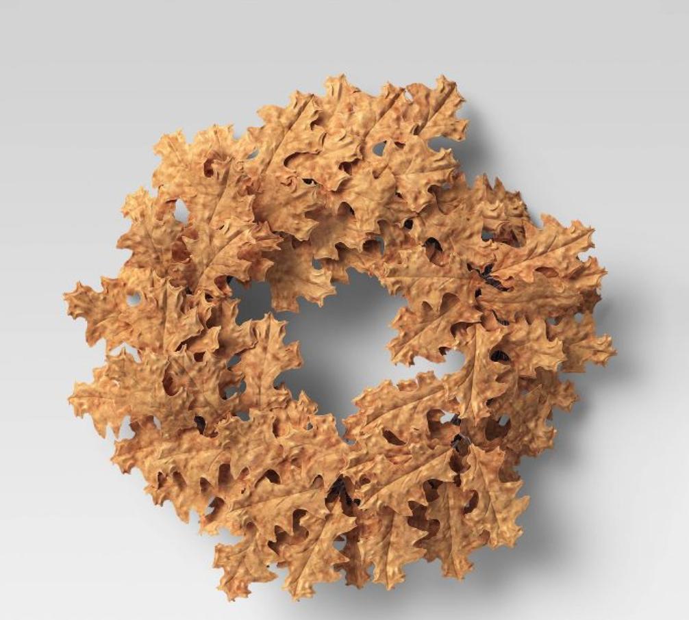 Artificial Oak Leaf Wreath