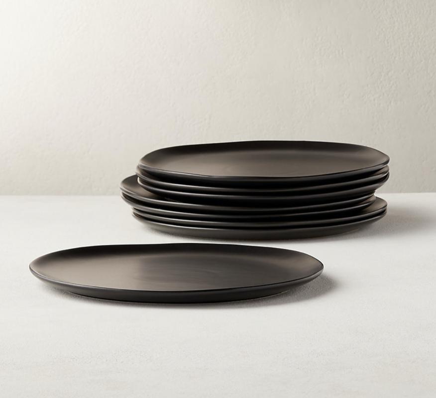Matte Black Dinner Plates