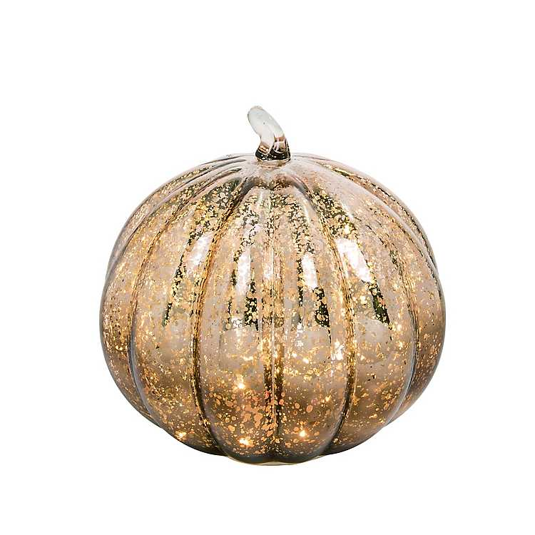 Gold Mercury Glass Pumpkin