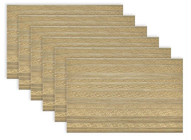 Gold Metallic Basketweave Placemats