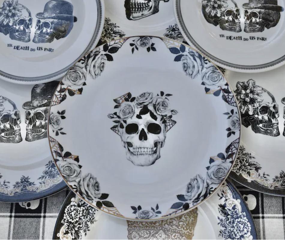 Skull Salad Plates