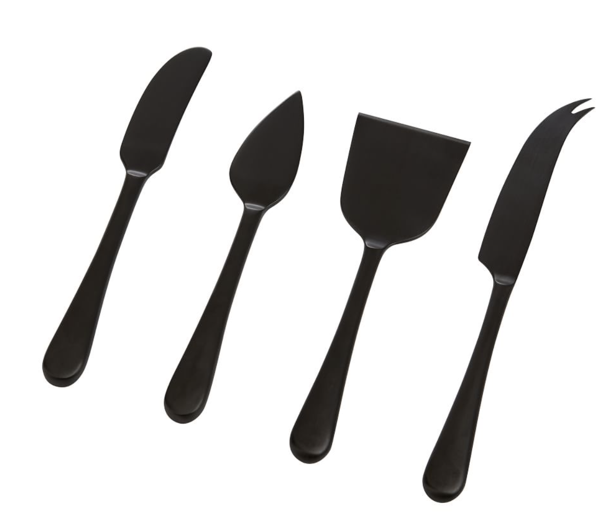 Mason Cheese Knives in Black