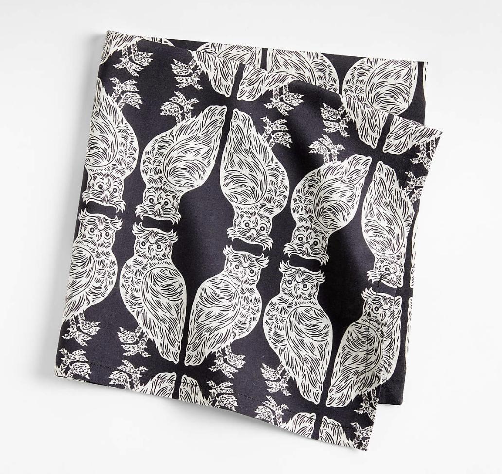 "Patch NYC 90"" Owl-Pattern Cotton Napkin"