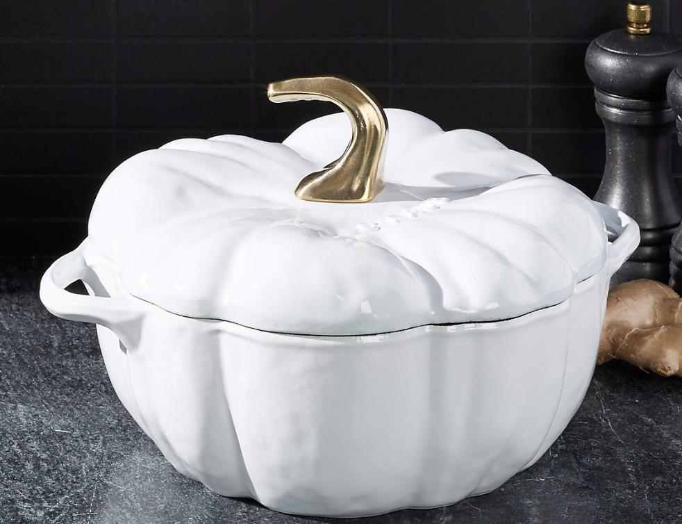 Staub White Pumpkin Cocotte
