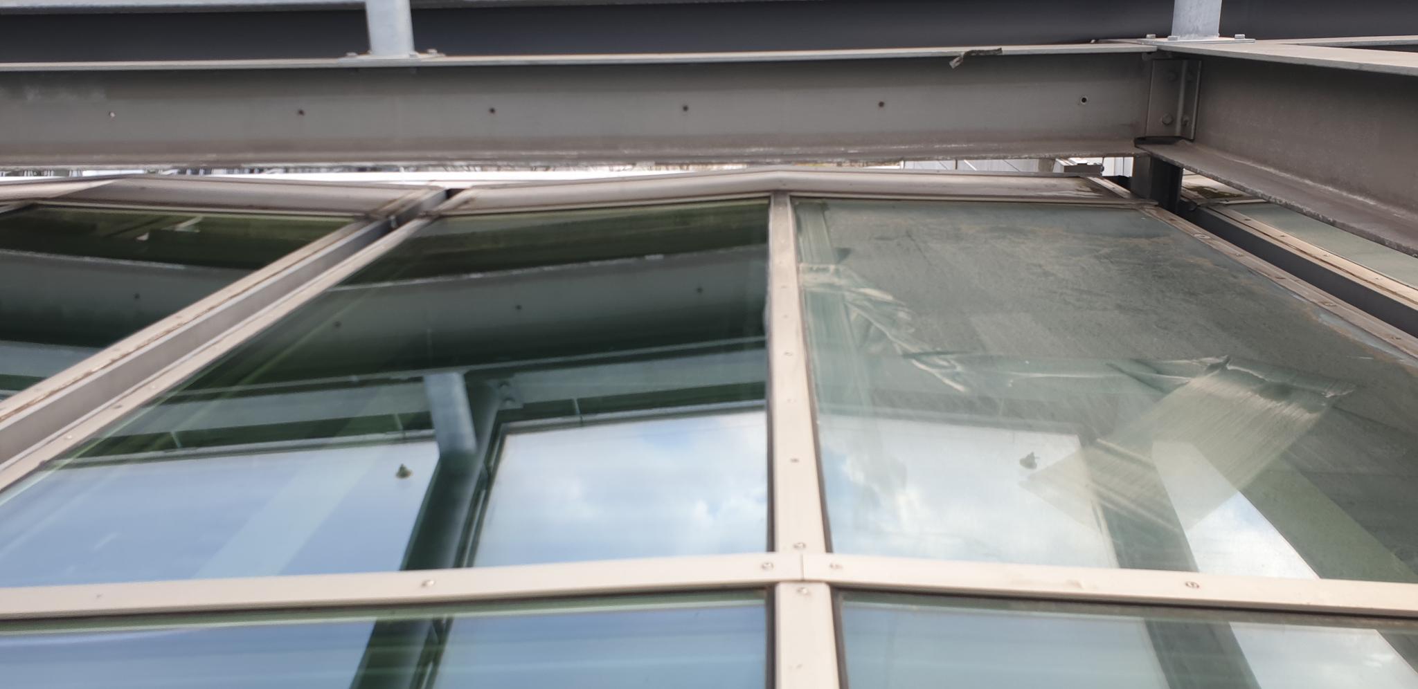 Glasdachreinigung in Hamburg durch Höhenarbeiter