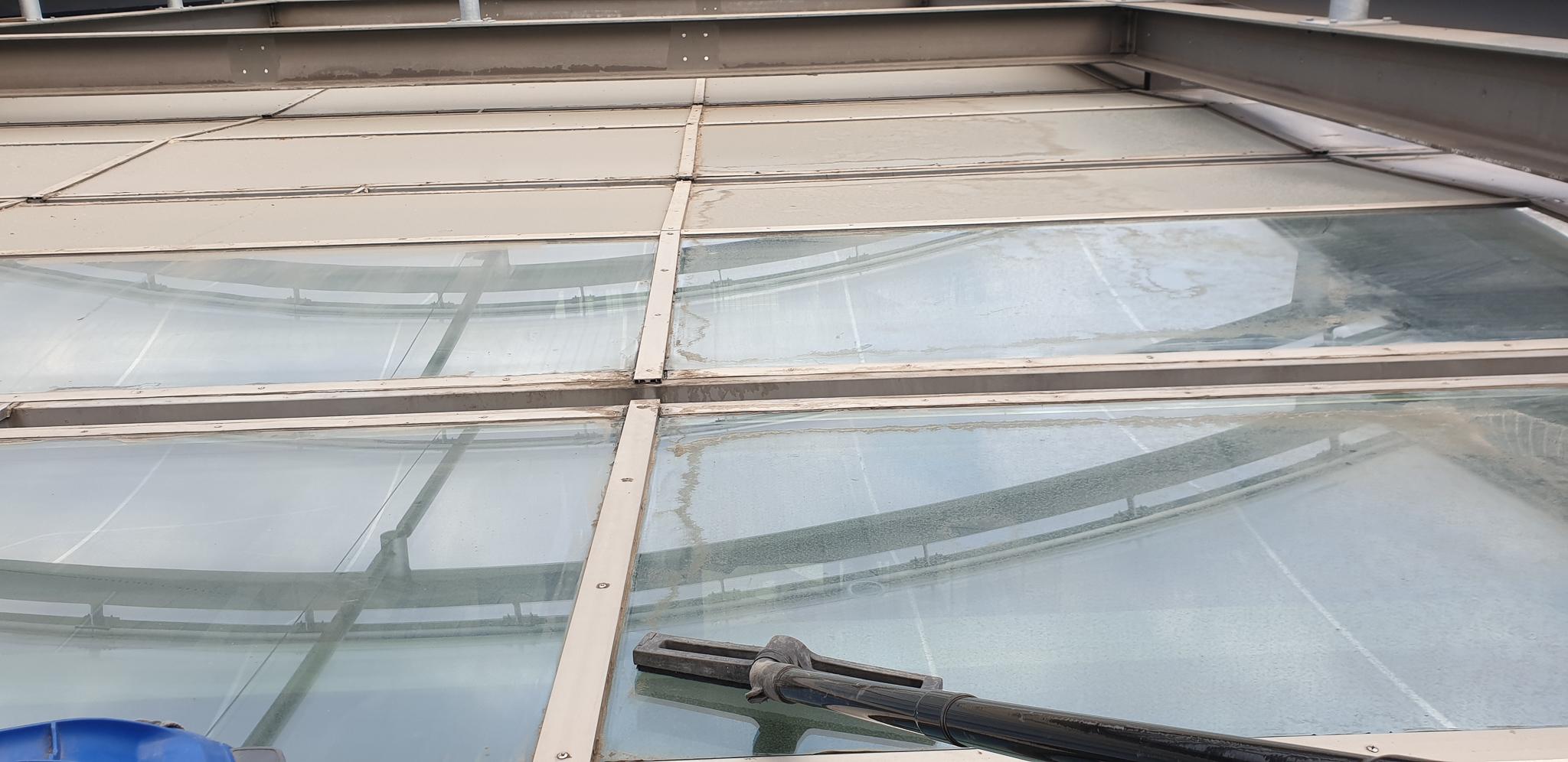 Industriekletterer Hamburg reinigen Glasdach