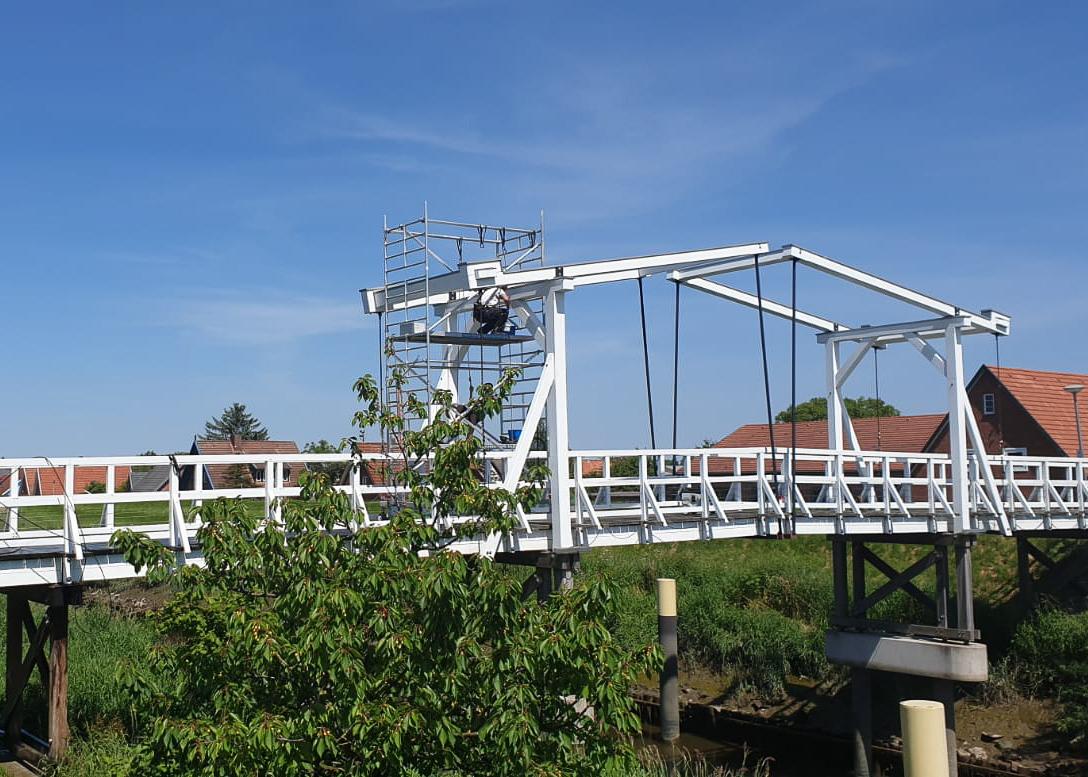 Industriekletterer Hamburg sanieren Hogendiekbrücke