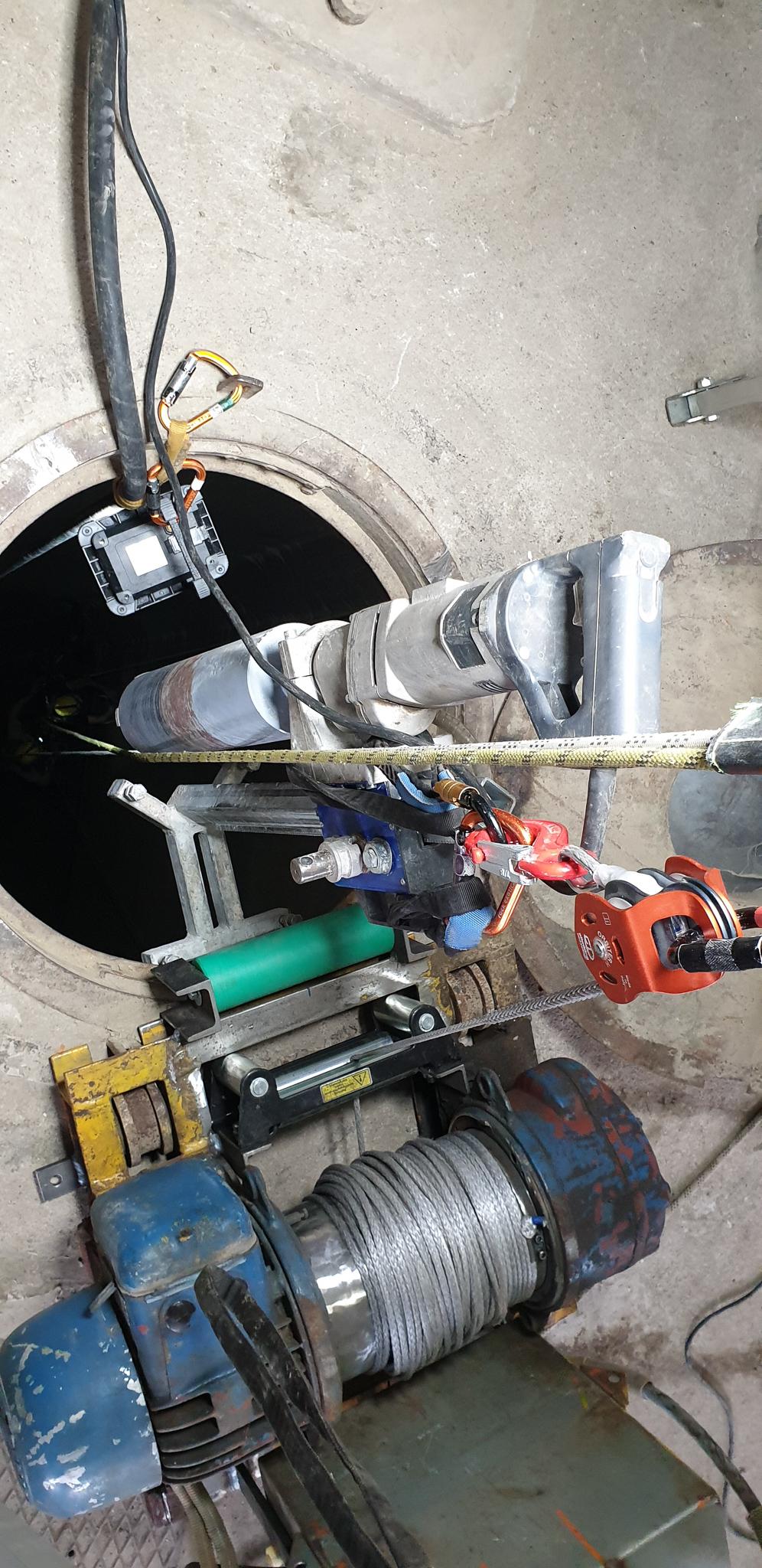 Kernbohrung durch Industriekletterer Hamburg
