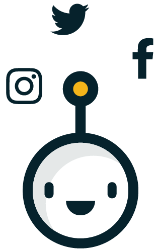 Walter, the mascot of Walls.io Social Media Wall
