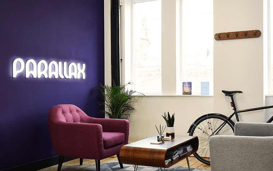 Parallax agency using social walls for their customers