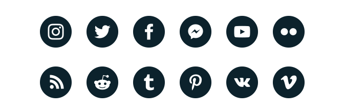 social media supported platforms supported by the social wall