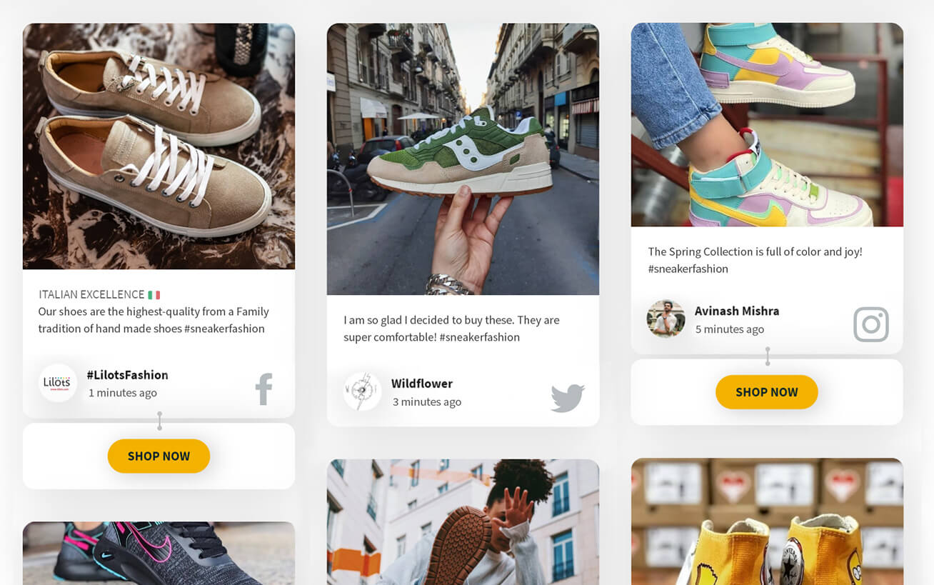 Social media for eCommerce platforms and online shops