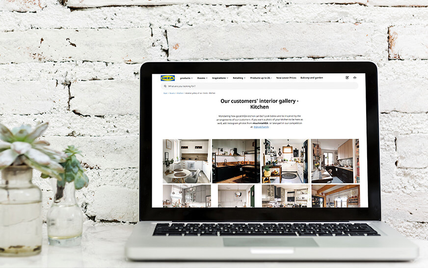 IKEA Poland website social media feed